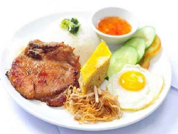 vietnamsese food com tam broken rice