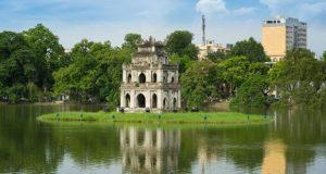 Hoan Kiem lake – the symbol of Hanoi, Vietnam